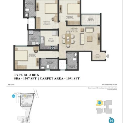 sobha-royal-pavilion-3-bhk-floor-plan